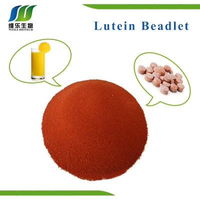 Lutein  5% red to red-brown free-flowing beadlets  Beadlet  weile