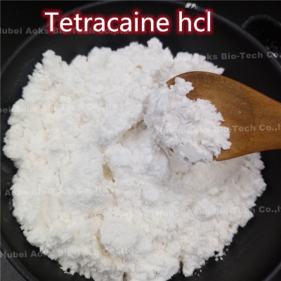 Local Anesthetic Tetracaine HCl CAS 136-47-0 Pain Killer with Safe Delivery 99% white powder 136-47-0 aoks